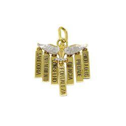 6f89b3dbab3be Pingente Dons do Divino Espírito Santo com Detalhes em ródio em ouro 18  kilates - 25051
